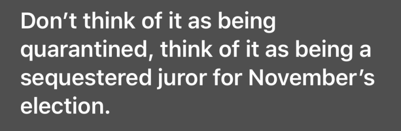 Think of it as being on jury
