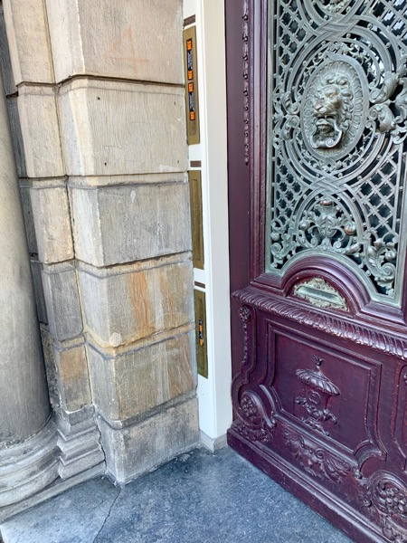 house of the blood stains door