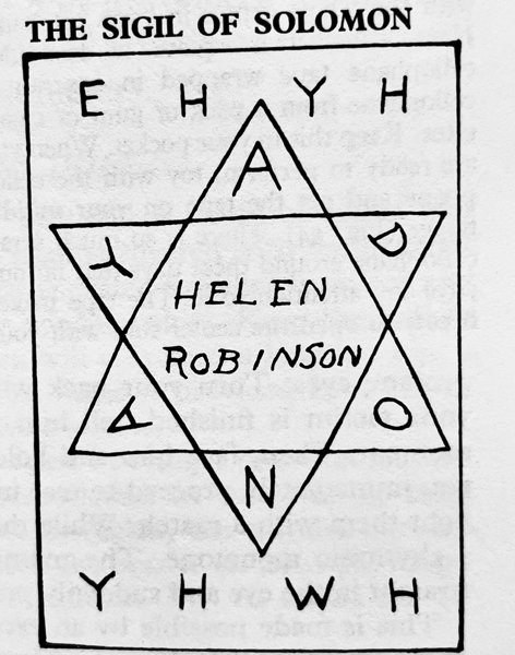 sigil of solomon image from book