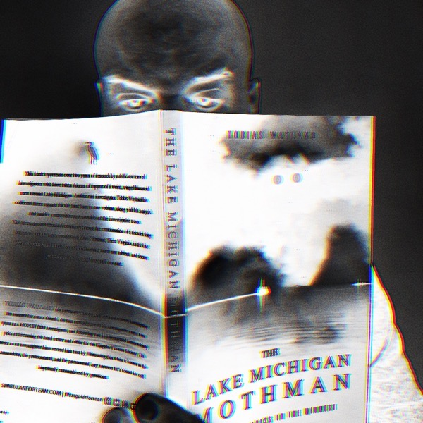 Gordon Meyer with mothman book